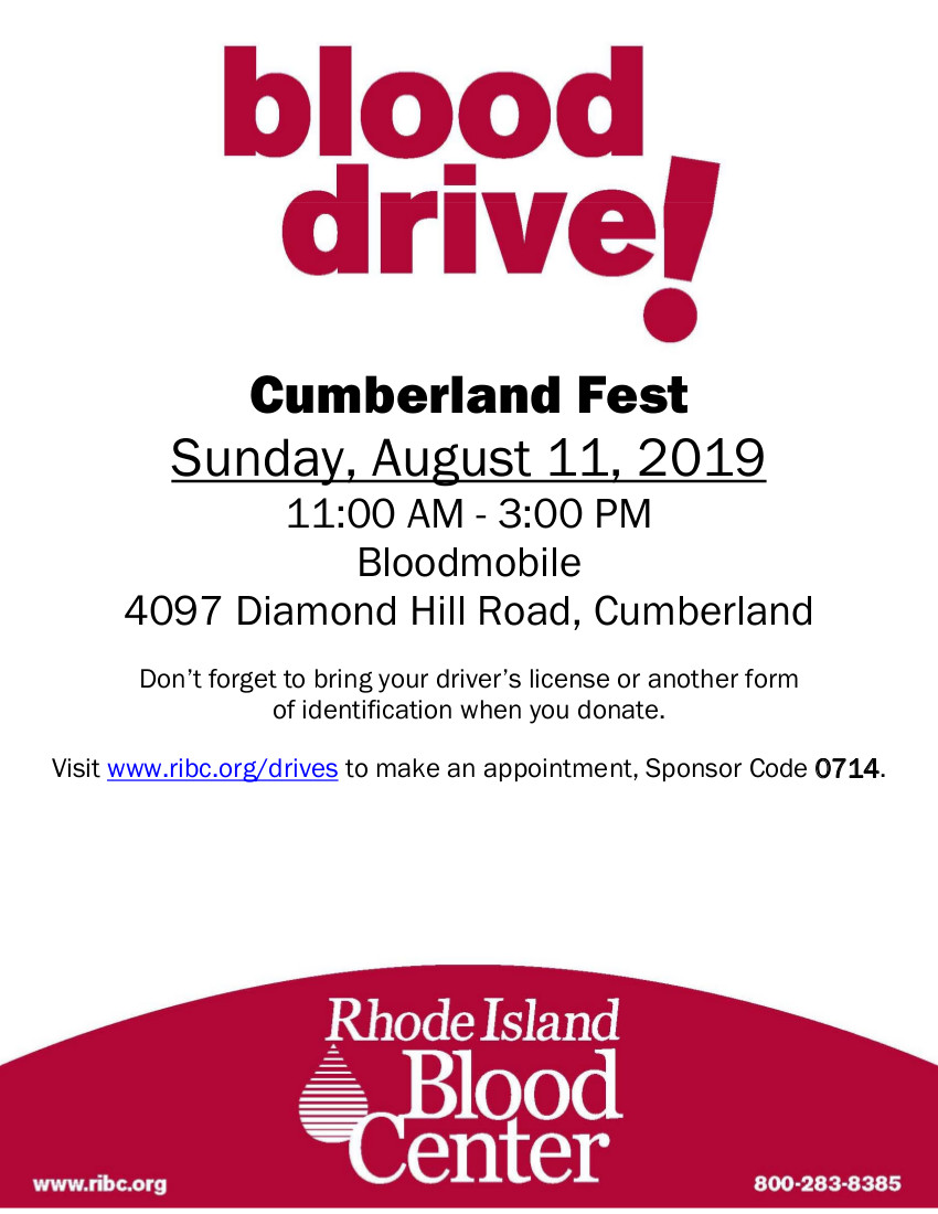 RI Blood Center Cumberland Fest 8/11/19